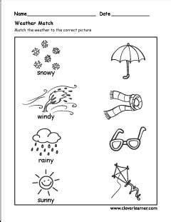 seasons activity worksheet  preschools  images