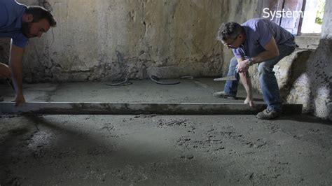 couler une dalle beton interieur couler une chape de b 233 ton sur un sol en terre