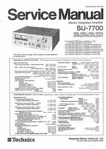 Download Technics Su 7700 Service Manual