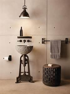 Salle De Bain Originale : cr ative et originale salle de bain au design industriel ~ Preciouscoupons.com Idées de Décoration