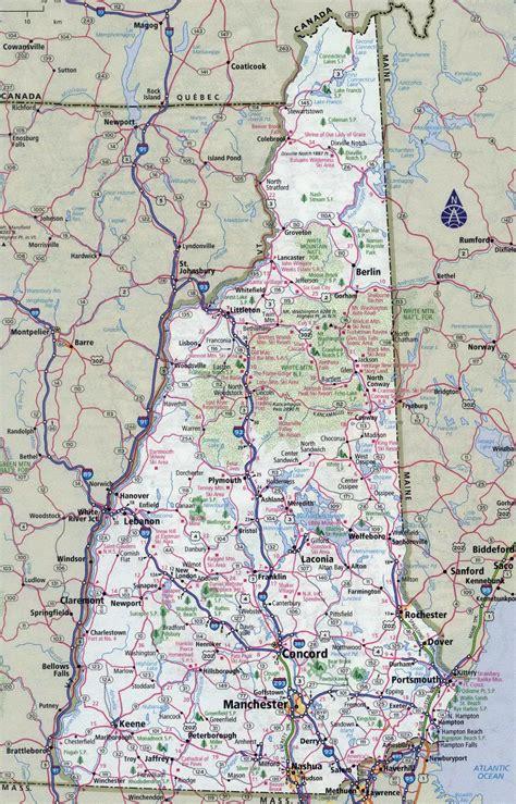 large detailed roads  highways map   hampshire