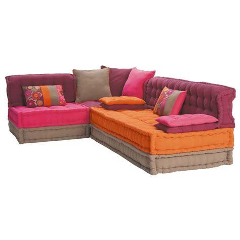 canapé convertible roche et bobois banquette d 39 angle 5 places en coton multicolore bolchoï