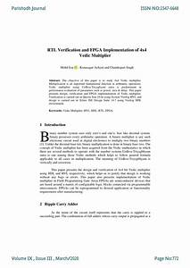 Pdf  Rtl Verification And Fpga Implementation Of 4x4