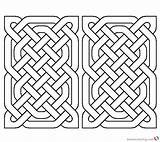 Rectangle Coloring Celtic Pages Knot Printable Adults sketch template