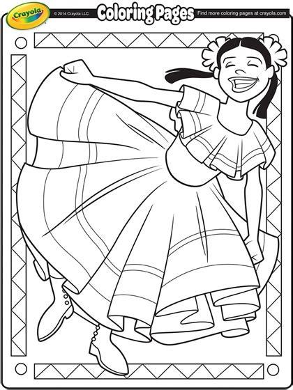cinco de mayo dancer coloring page crayolacom