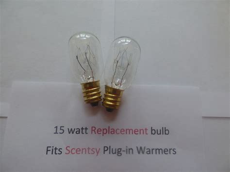 scentsy light bulb size 2 two replacement 15 watt light bulbs fits plug in scentsy