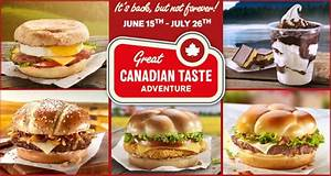 Canadiana-Inspired Menus : Great Canadian Taste Adventure