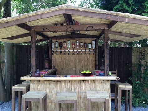 Outdoor Bar Home Garden Bar Thatched Roofed Tiki Bar