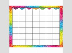 Colorful Brush Strokes WipeOff® Calendar – Monthly