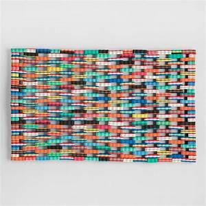 Multicolor Flip-Flop Doormat World Market