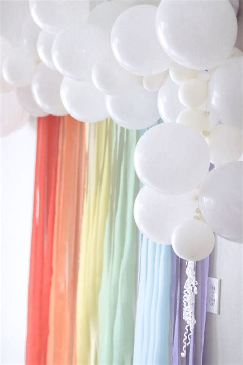 Ideas With Streamers by Cool Unicorn Idea Balloon Cloud And Rainbow