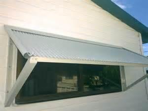 Corrugated Metal Awning DIY