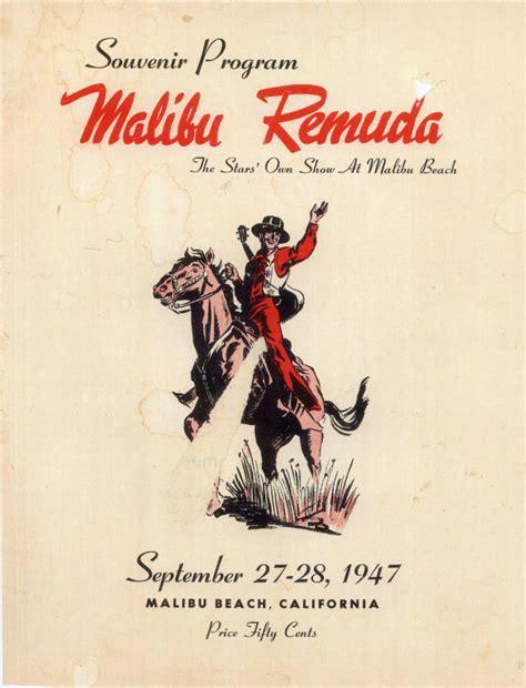 regionalism remuda 1947 malibu weird horse