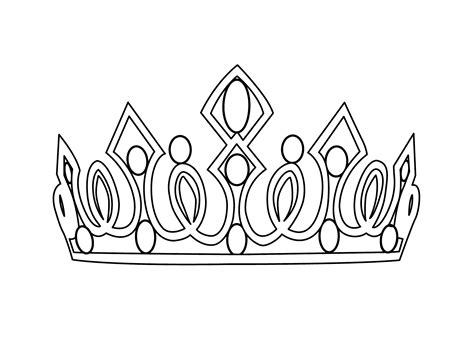 Crown Coloring Pages To Download And Print For Free