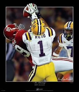 The Takeaway LSU Tigers Football Player Collage Art Prints ...