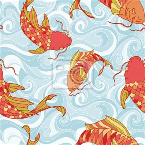 papier peint poissons color 233 s dans le motif vagues de la