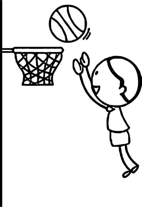 easy basketball drawing coloring coloring pages