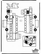 Bus London Papercraft Cut Coloring Crafts Colouring Pages Easy Funnycoloring Sheet Paper Folding Sheets Ben Printable Craft Buses Toilet Cardboard sketch template