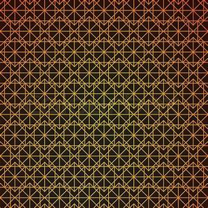 Gold geometric retro abstract seamless cube pattern with