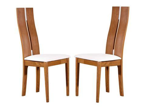 vente unique chaise chaise tissu cuir simili blanche pas cher large choix