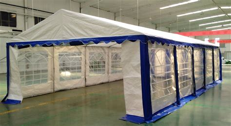 Fliesenfolie 15 X 30 by 15 X 30 Heavy Duty White And Blue Tent Canopy