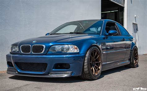 bmw e46 a mystic blue bmw e46 m3 gets aftermarket goodies at
