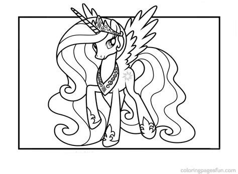 gambar princess celestia love frame pony colouring page
