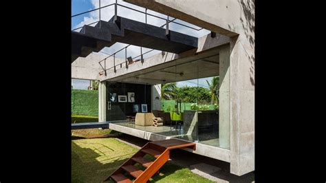 modern concrete house separate elevated buildings youtube
