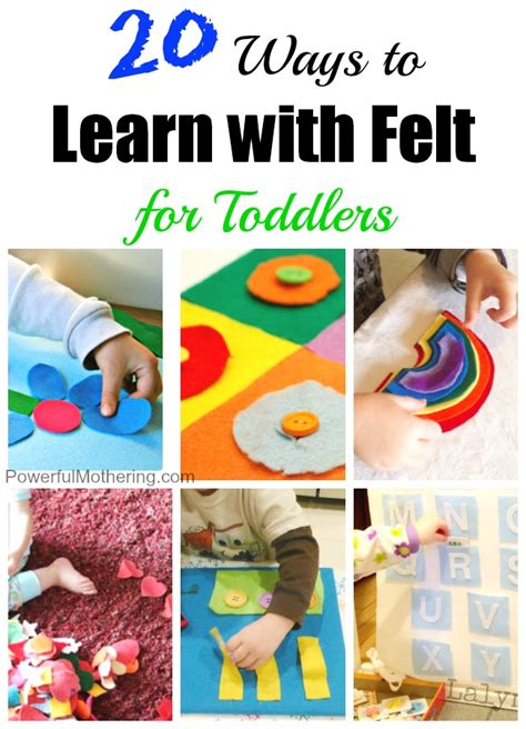 activities to learn 20 ways to learn with felt for toddlers