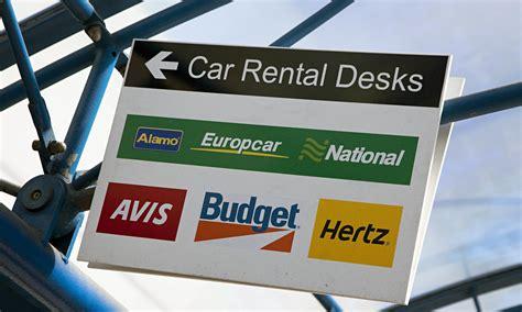 Car Rental Signs At Airport