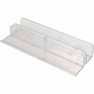 Prime line 1 2 in plastic sliding tub door bottom guide m for Home depot furniture line