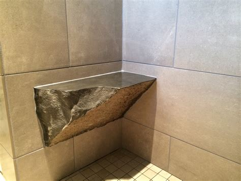bathroom bench ideas accessories granite wall with corner shower bench
