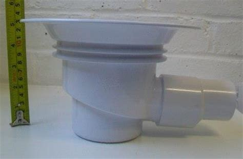 White Round Wet Room Gully Trap for use with Sheet Floor