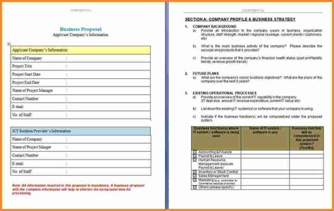 4+ Business Proposal Template Microsoft Word