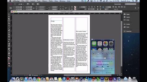 in design tutorial adobe indesign tutorial 1 creating a article