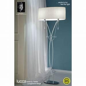 Mantra m1319 lucca floor lamp 2 light for Mantra 5 light floor lamp