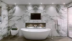 Freistehende Badewanne An Der Wand : luxus badezimmer freistehende badewanne marmor wand verkleidung haus rheinau pinterest ~ Bigdaddyawards.com Haus und Dekorationen