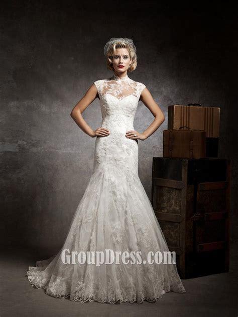 mermaid lace wedding dresses sweetheart mermaid lace and tulle vintage wedding dress groupdress