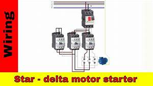 Wiring Star-delta Motor Starter  Power And Control Circuit