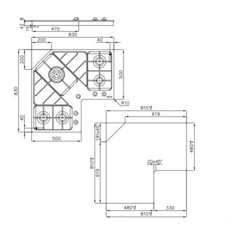 piano cottura angolare foster piano cottura angolare da incasso 90 cm 7038052