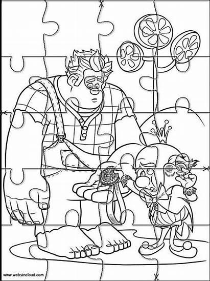 Rompecabezas Colorear Rompe Imprimir Dibujos Ralph Recortables