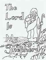 Shepherd Lord Coloring Psalm 23 Pages Print sketch template