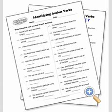 Identifying Action Verbs  Worksheetworkscom  Language  Pinterest  Action Verbs, Great