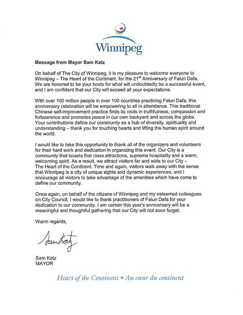 canada government officials write  congratulate st