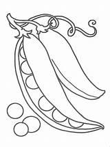 Coloring Pea Pages Raskraska Pineapple sketch template