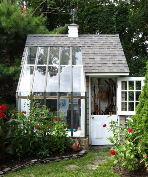Inspiring Greenhouse House Plans Photo inspiring gardening shed 13 potting shed with greenhouse