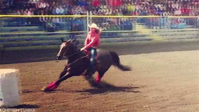 Horse Barrel Rodeo Racing Cowgirl Gifs Pole