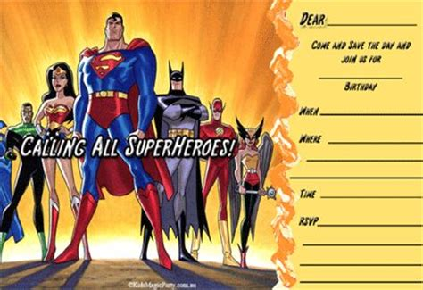 superhero themed party invitations magic glen saving