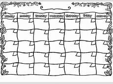 Blank Printable Calendar Template » Calendar Template 2018