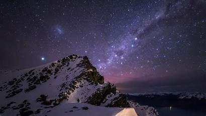 Starry Night Desktop Wallpapers Mountain Star Background